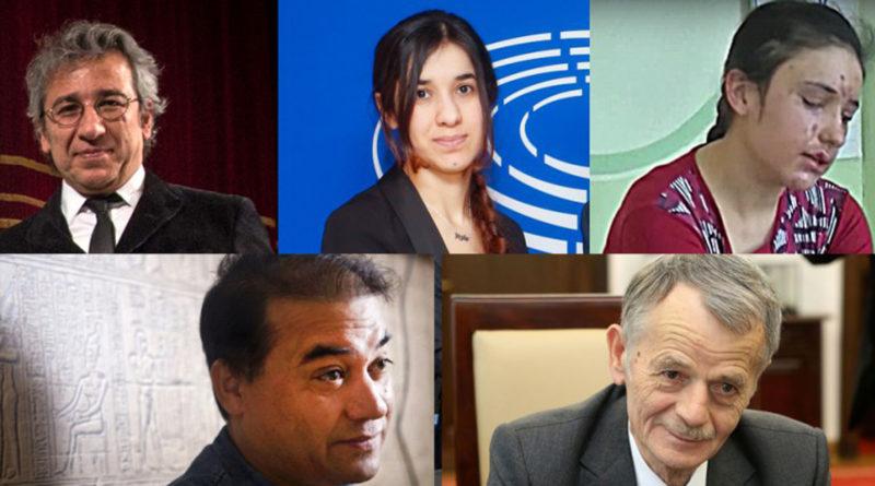 sakharov, Can Dündar, Moustafa Djemilev, Nadia Murad Basee Taha, Lamiya Aji Bashar, Ilham Tohti, Elena Blum