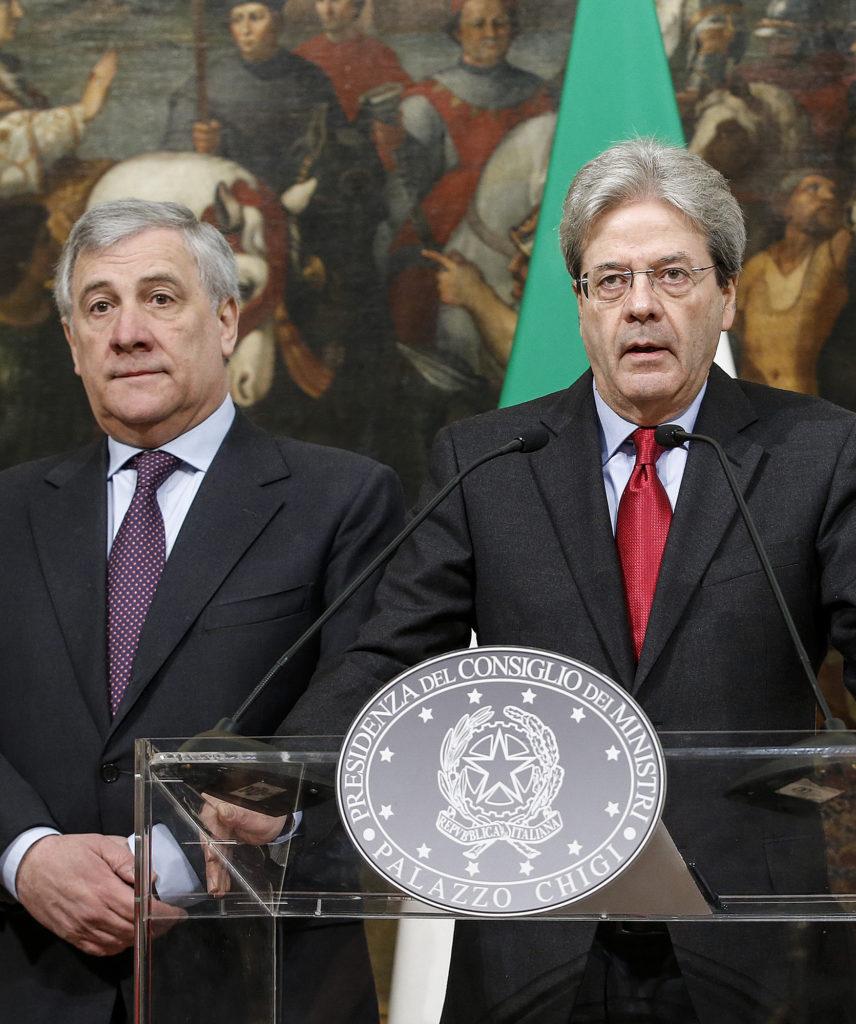 Le nouveau Président du Parlement européenne Antonio Tajani et le Premier ministre Paolo Gentiloni. © European Union