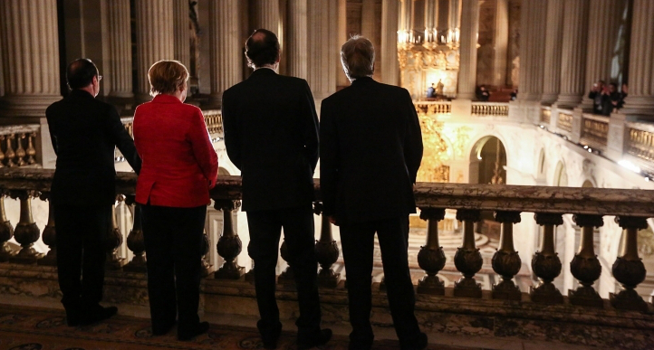 François Hollande, Angela Merkel, paolo gentiloni, mariano rajoy, europe à deux vitesse, relations bilatérales, Joao Lobo, coopération renforcée